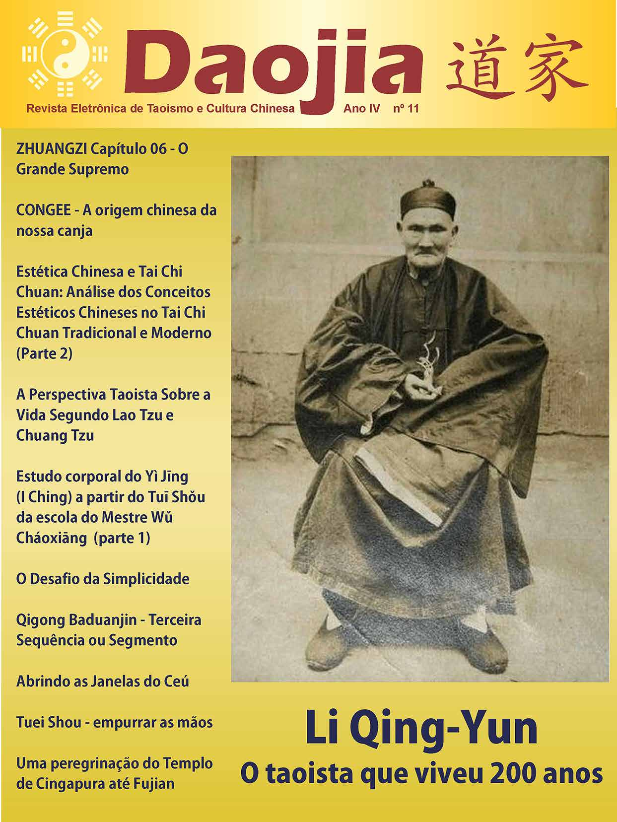 Daojia 11 – Revista Eletrônica de Taoismo e Cultura Chinesa